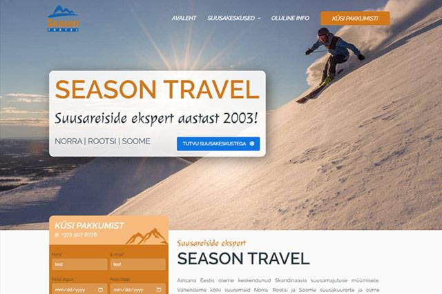 Tehtud töö: Season Travel